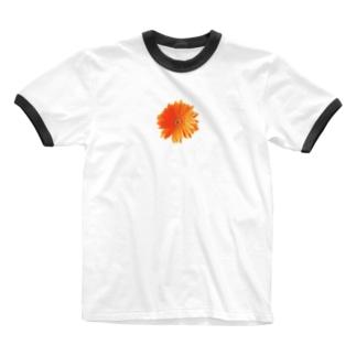 ガーベラ・オレンジ Ringer T-Shirt