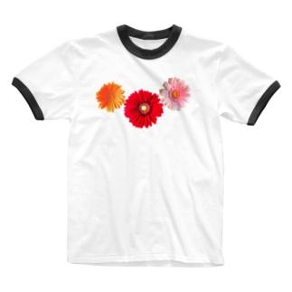 ガーベラ・もり Ringer T-Shirt