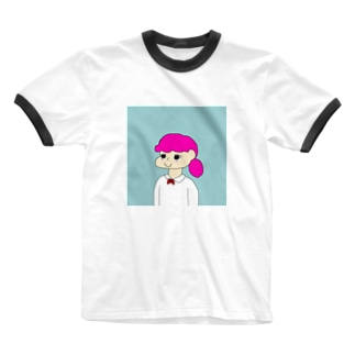 Pink girl Ringer T-shirts