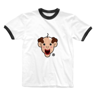 顔だけおじさん Ringer T-shirts