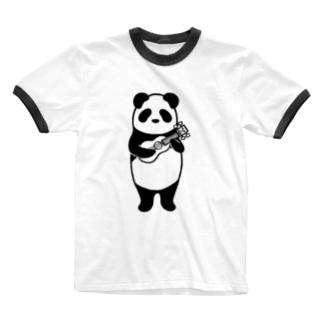 ウクレレパンダ Ringer T-shirts