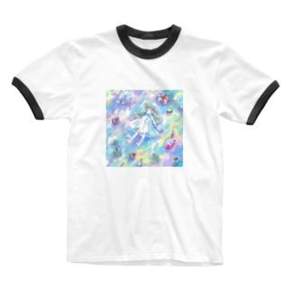 夏の走馬灯 Ringer T-shirts