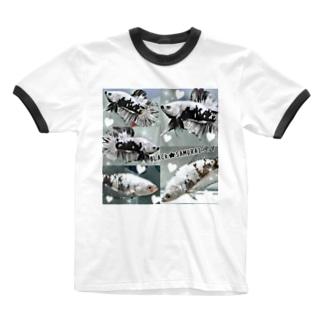 ベタ★ブラック☆サムライ Ringer T-shirts