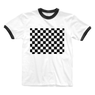team-Kの実はまっすぐなんです!よ~く見てください Ringer T-shirts