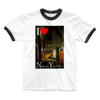 I love NY アイラブNY 中野区 弥生町 Ringer T-shirts