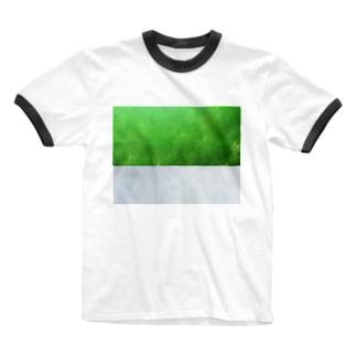 杜の都と思いきや霧の都仙台(文字なし) Ringer T-shirts