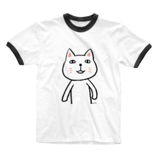 にゃーんさん Ringer T-shirts