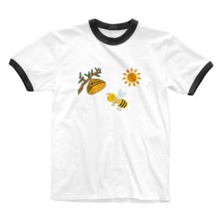 ぶんぶんぶん Ringer T-shirts