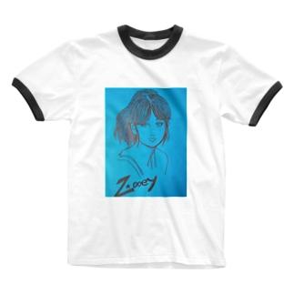 ズーイー Ringer T-shirts