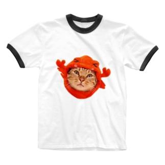 こちょらのカニこちょら Ringer T-shirts