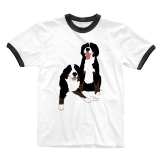 りんちゃんろんちゃん Ringer T-shirts