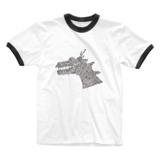 51-86のDRAGON Ringer T-shirts