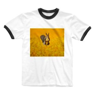 出逢い Ringer T-shirts