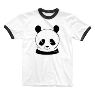 パンダです Ringer T-shirts
