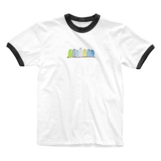 鈴なりマメルリハ Ringer T-shirts