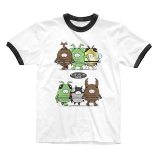 きぐるみキッズ(昆虫) Ringer T-shirts