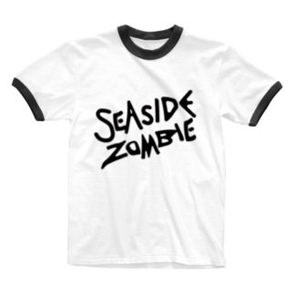 SEA SIDE ZOMBIE Ringer T-shirts