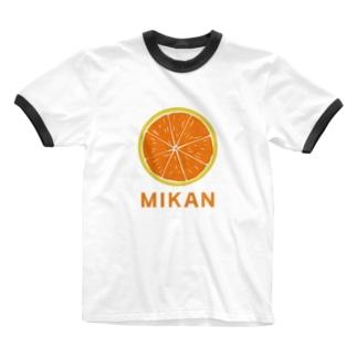オレンジフレッシュみかん Ringer T-shirts