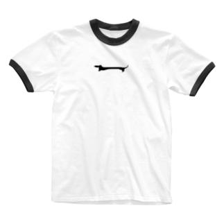 ながいいぬ Ringer T-shirts