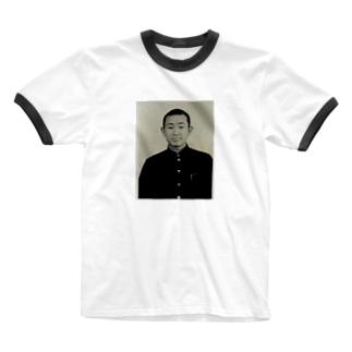 おれのじーちゃん Ringer T-shirts