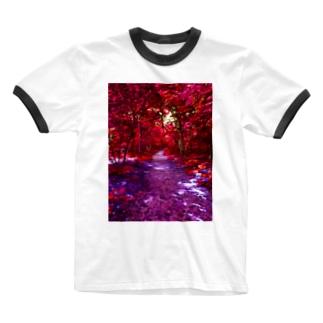 紅の森 Ringer T-shirts
