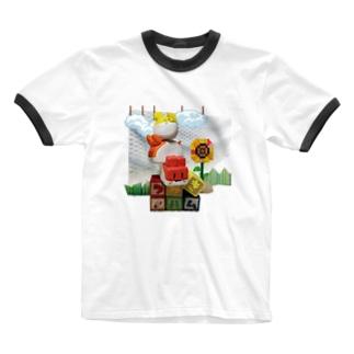 つみきハムショップの実写つみきハム Ringer T-shirts