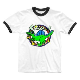 POP!スピノサウルス Ringer T-shirts