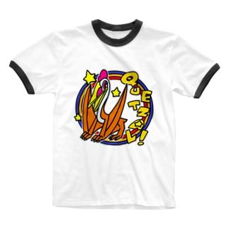 POP!ケツァルコアトルス Ringer T-shirts