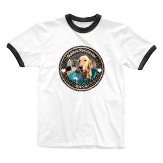 ゴールデンレトリバー れんくん Ringer T-shirts
