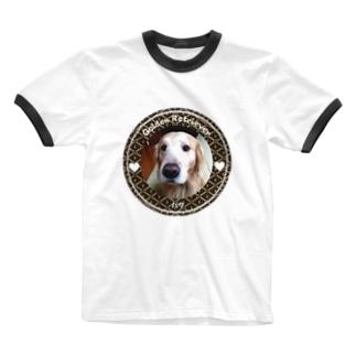 ゴールデンレトリバー ハク Ringer T-shirts