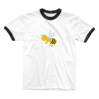 みつばち Ringer T-shirts