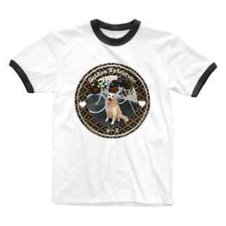 ゴールデンレトリバー キース Ringer T-shirts