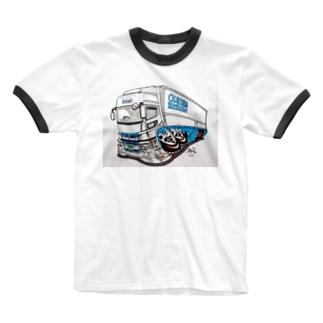 本舗なっか Hawkさん画スパグレTシャツ Ringer T-shirts