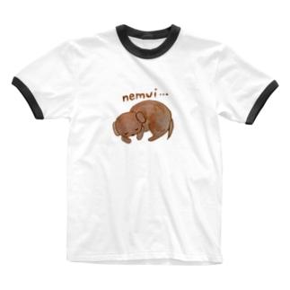 眠い犬 Ringer T-shirts