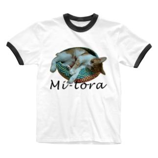 鍋ねこ Ringer T-shirts