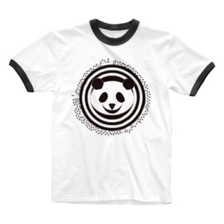 モードなパンダ Ringer T-shirts