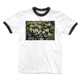 モッコウバラ Ringer T-shirts