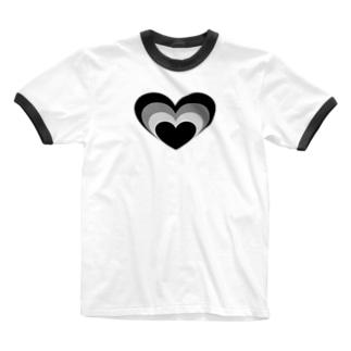 Mamolllluのロックオンブラック Ringer T-shirts