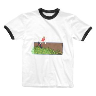 金木犀衝浪少女 Ringer T-shirts