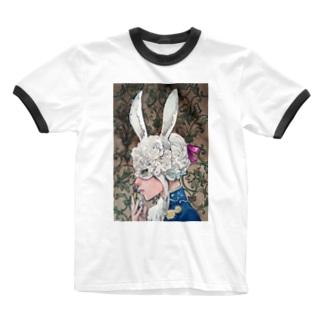 アリスを探して Ringer T-shirts