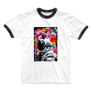 ASTRONAUT and FLOWERS Ringer T-shirts