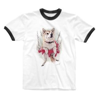 柴犬16 Ringer T-shirts