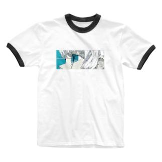 青と熱 Ringer T-shirts