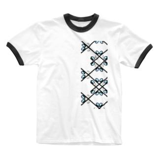 景色の宝石 Ringer T-shirts