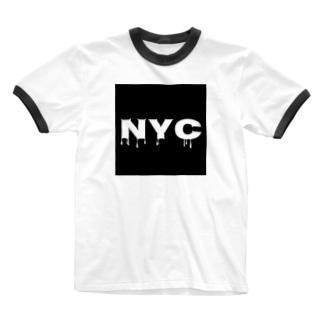 NYC melting Ringer T-shirts