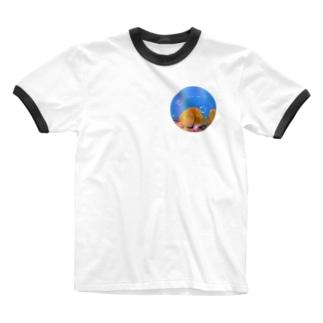 国東おしり岩 Ringer T-shirts