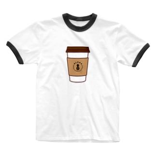 ALOHA コーヒー 024 Ringer T-shirts