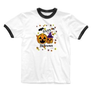 ハロウィーン Ringer T-shirts