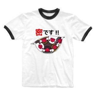 まめるりはことりの密です!文鳥さん【まめるりはことり】 Ringer T-shirts
