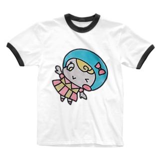 チアリーダーちょむ♥ お好きな色を選んでね✨ Ringer T-shirts